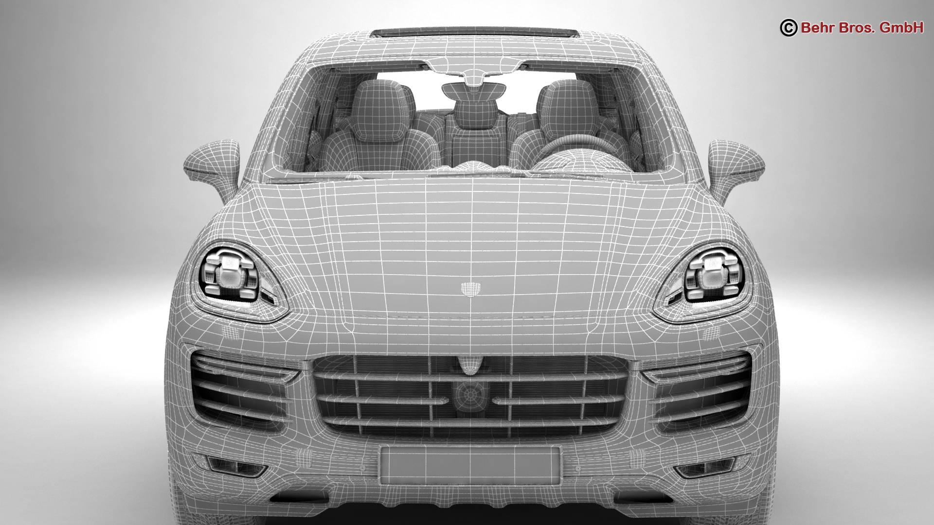 porsche cayenne turbo s 2016 3d model 3ds max fbx c4d lwo ma mb obj 214947