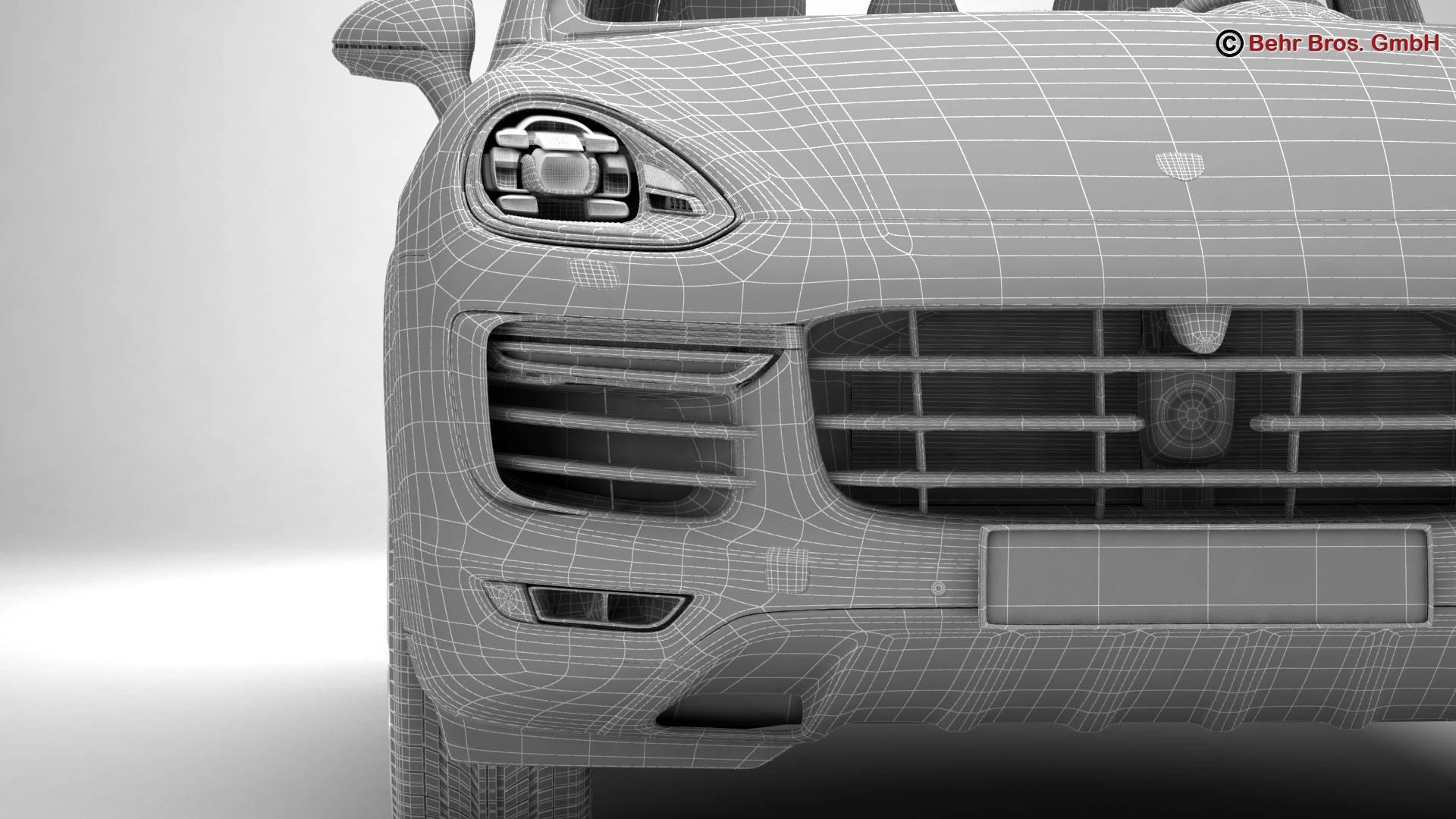 porsche cayenne turbo s 2016 3d model 3ds max fbx c4d lwo ma mb obj 214948