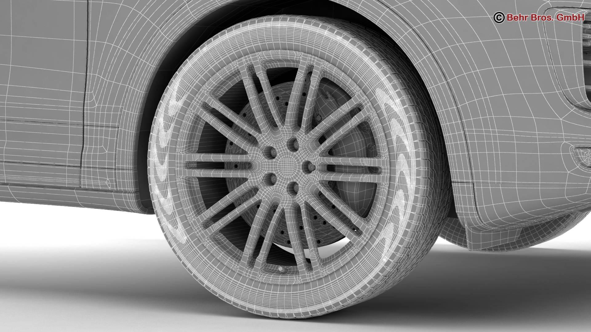 porsche cayenne turbo s 2016 3d model 3ds max fbx c4d lwo ma mb obj 214949