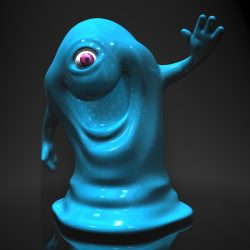 Bob from Monsters vs Aliens RIGGED 3d model 3ds max fbx  obj