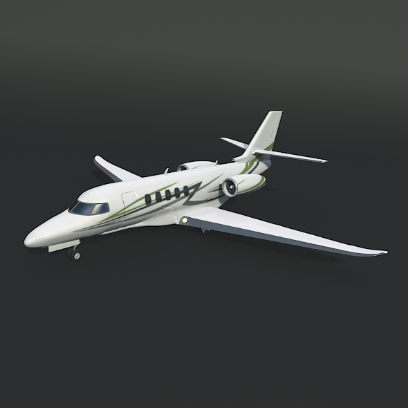 cessna citation latitude negoci jet 3d model 3ds fbx blend dae lwo obj 214961