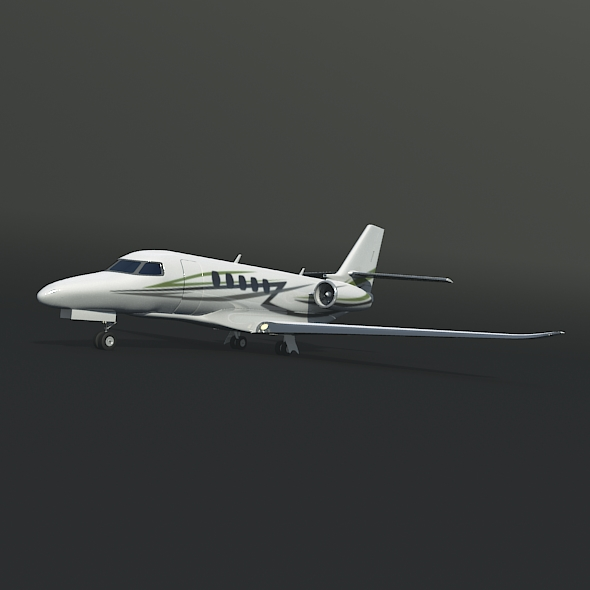 cessna citation latitude business jet 3d model 3ds fbx blend dae lwo obj 214962