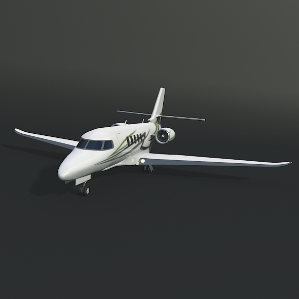 cessna citation latitude business jet 3d model 3ds fbx blend dae lwo obj 214964