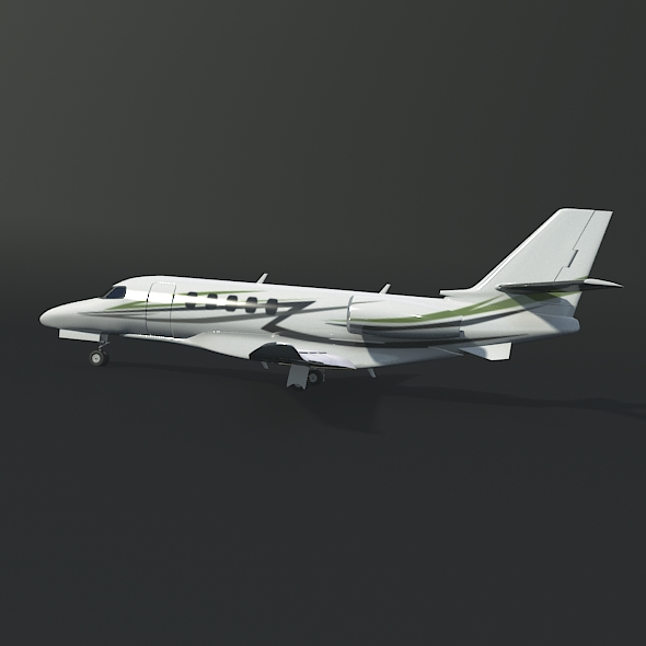 cessna citation latitude business jet 3d model 3ds fbx blend dae lwo obj 214965