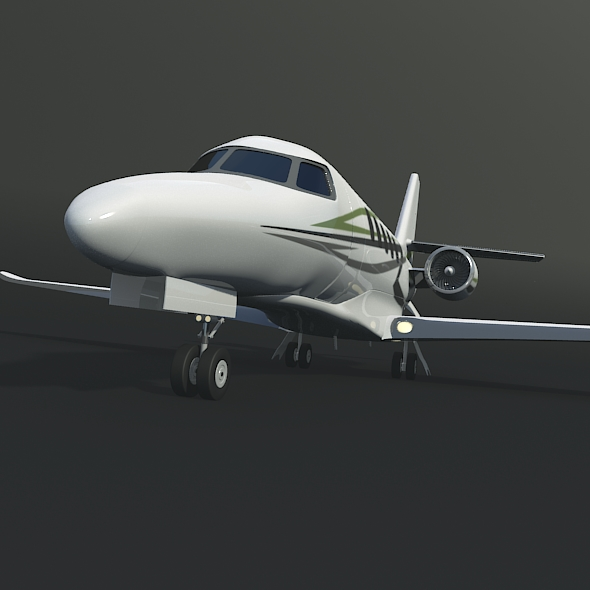 cessna citation latitude business jet 3d model 3ds fbx blend dae lwo obj 214966