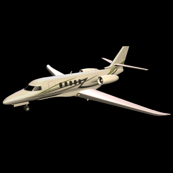 cessna citation latitude business jet 3d model 3ds fbx blend dae lwo obj 214969