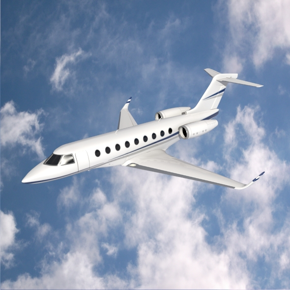 gulfstream g280 business jet 3d model 3ds fbx blend dae lwo obj 214972