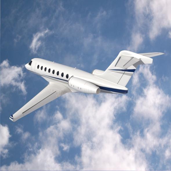 gulfstream g280 business jet 3d model 3ds fbx blend dae lwo obj 214974
