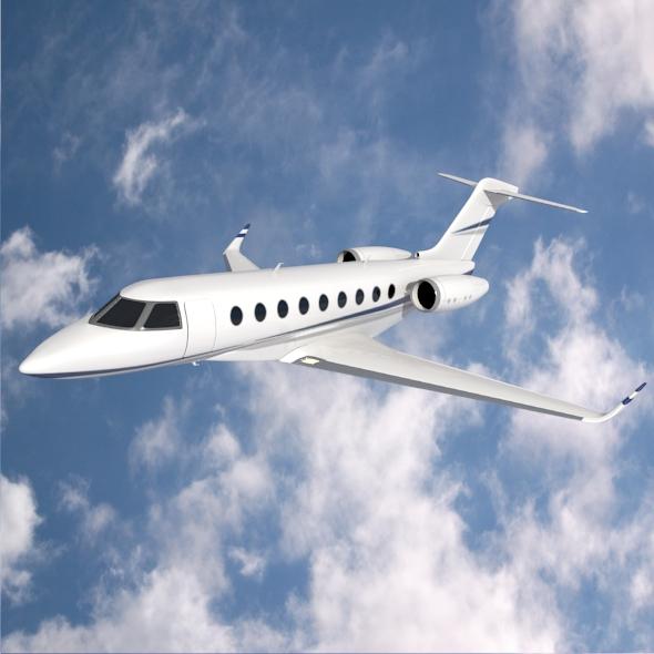 gulfstream g280 business jet 3d model 3ds fbx blend dae lwo obj 214977
