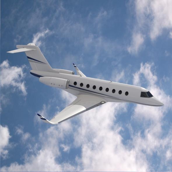 gulfstream g280 business jet 3d model 3ds fbx blend dae lwo obj 214979