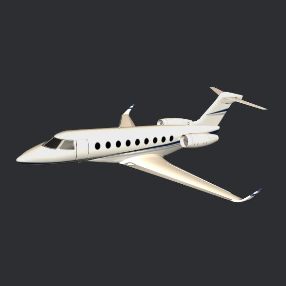 gulfstream g280 business jet 3d model 3ds fbx blend dae lwo obj 214980
