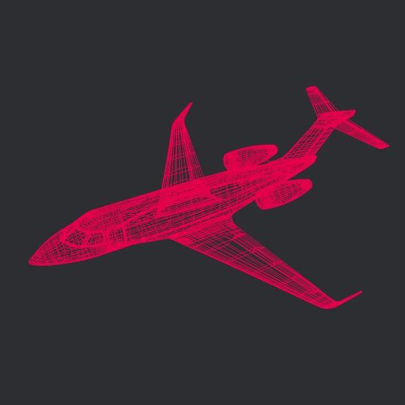 gulfstream g280 business jet 3d model 3ds fbx blend dae lwo obj 214981