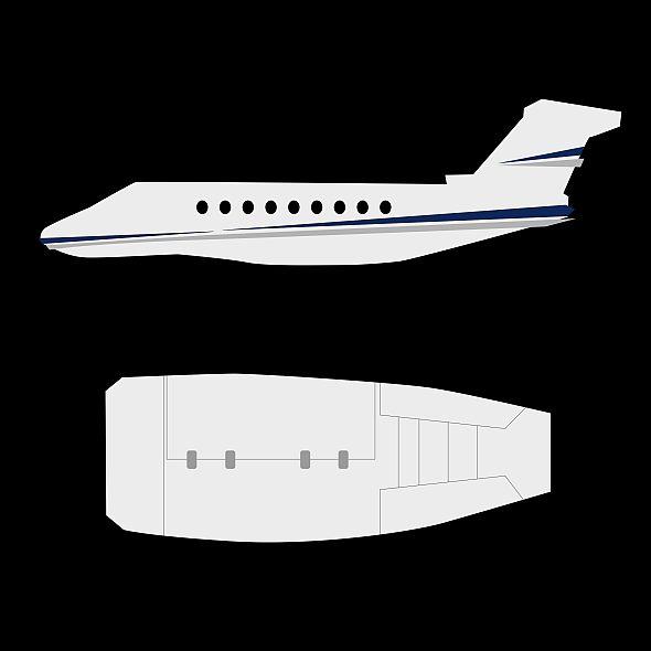 gulfstream g280 business jet 3d model 3ds fbx blend dae lwo obj 214982