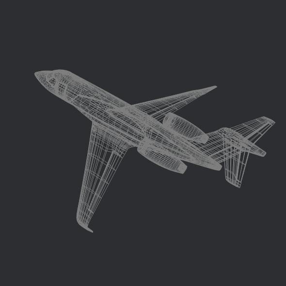 gulfstream g280 business jet 3d model 3ds fbx blend dae lwo obj 214983