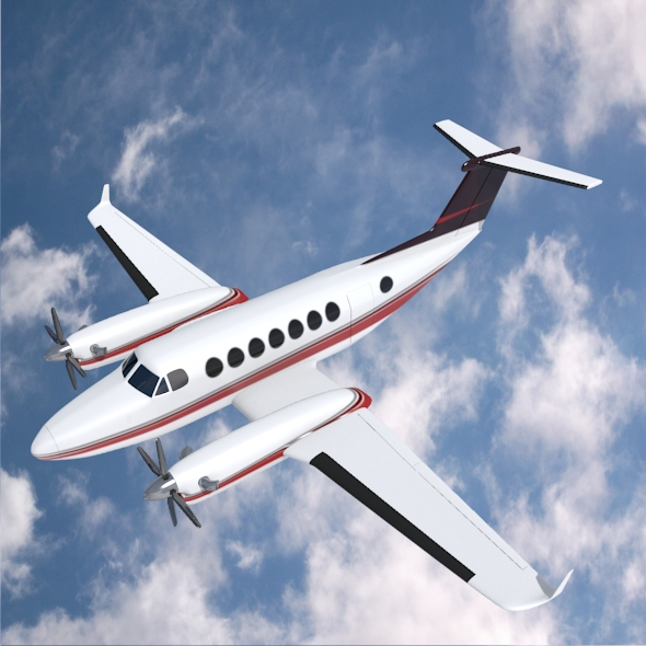 beech craft king air 350 propeller aircraft 3d model 3ds fbx blend dae lwo obj 214985
