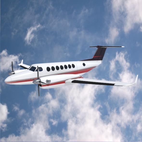 beech craft king air 350 propeller aircraft 3d model 3ds fbx blend dae lwo obj 214986