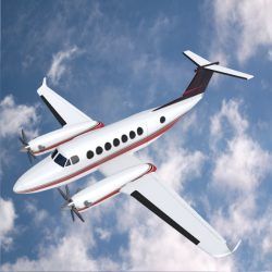 Beech craft King Air 350 propeller aircraft ( 229.81KB jpg by futurex3d )