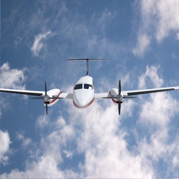 beech craft king air 350 propeller aircraft 3d model 3ds fbx blend dae lwo obj 214988