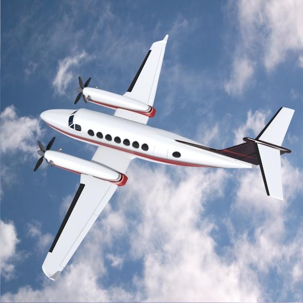 beech craft king air 350 propeller aircraft 3d model 3ds fbx blend dae lwo obj 214989