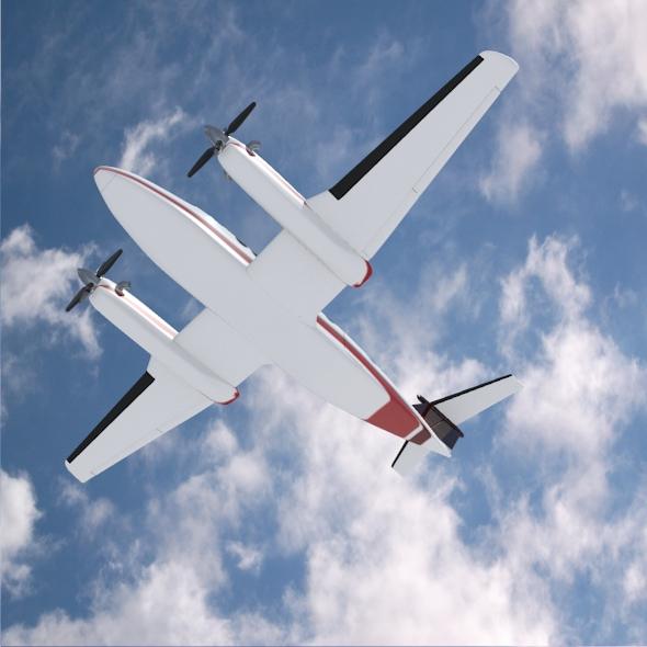 beech craft king air 350 propeller aircraft 3d model 3ds fbx blend dae lwo obj 214990