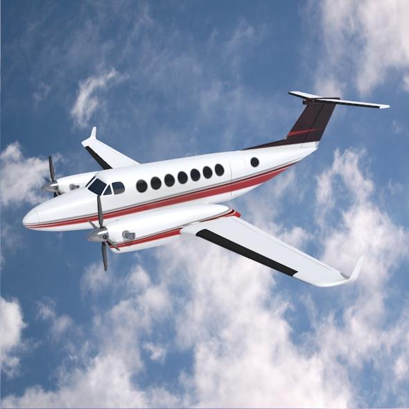 beech craft king air 350 propeller aircraft 3d model 3ds fbx blend dae lwo obj 214991