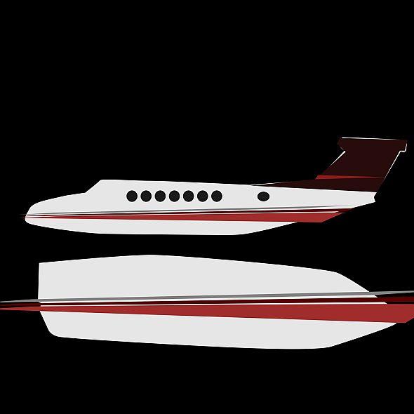 beech craft king air 350 propeller aircraft 3d model 3ds fbx blend dae lwo obj 214995