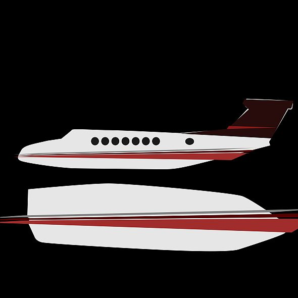 Beech craft King Air 350 propeller aircraft ( 19.81KB jpg by futurex3d )