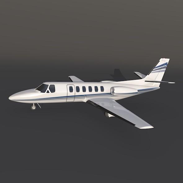 550 işə salma ii biznes jet 3d modeli 3ds fbx qarışığı 214998
