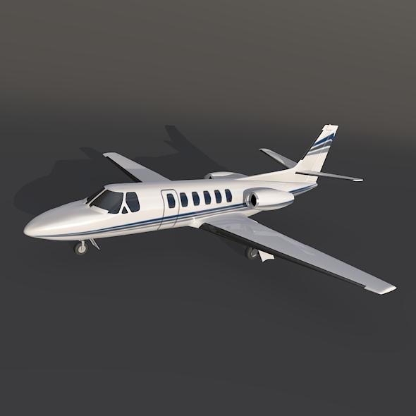 Cessna 550 citation II business jet 3d model 3ds fbx blend dae lwo lws lw obj 214997