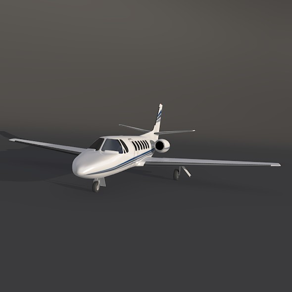 cessna 550 citation ii business jet 3d model 3ds fbx blend dae lwo obj 215000