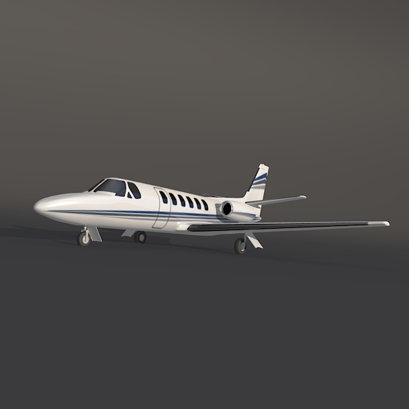 cessna 550 citation ii business jet 3d model 3ds fbx blend dae lwo obj 215001