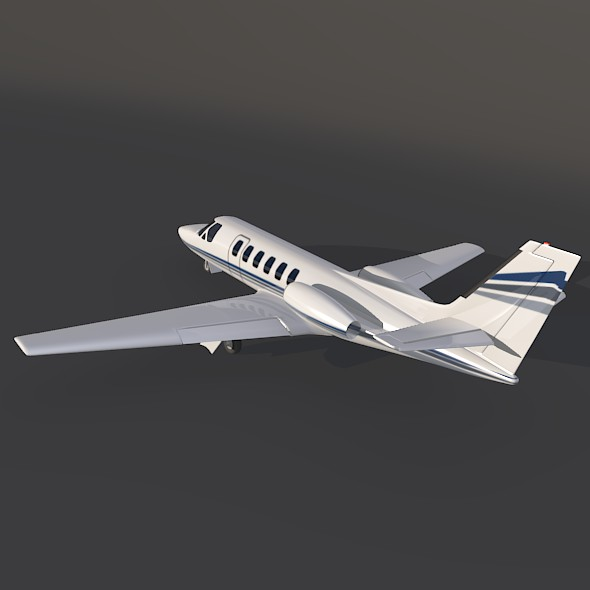 cessna 550 citation ii business jet 3d model 3ds fbx blend dae lwo obj 215002