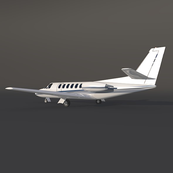 cessna 550 citation ii business jet 3d model 3ds fbx blend dae lwo obj 215003