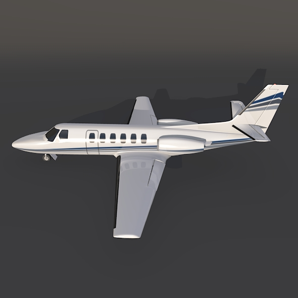 cessna 550 citation ii business jet 3d model 3ds fbx blend dae lwo obj 215004