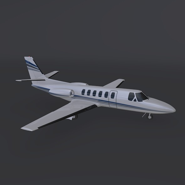 cessna 550 citation ii business jet 3d model 3ds fbx blend dae lwo obj 215005