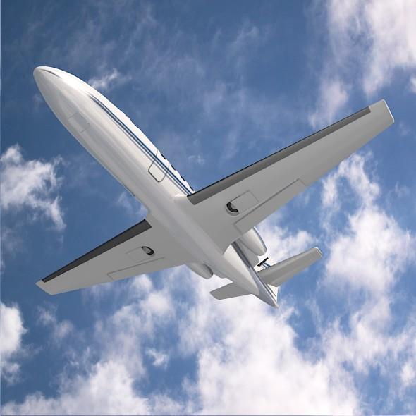 550 işə salma ii biznes jet 3d modeli 3ds fbx qarışığı 215006