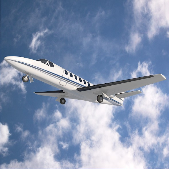 Cessna 550 citation II business jet ( 64.16KB jpg by futurex3d )