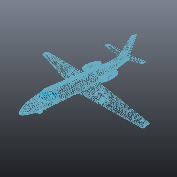 cessna 550 citation ii business jet 3d model 3ds fbx blend dae lwo obj 215009