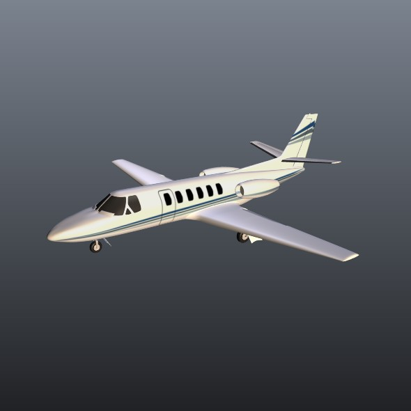 Cessna 550 citation II business jet ( 25.16KB jpg by futurex3d )