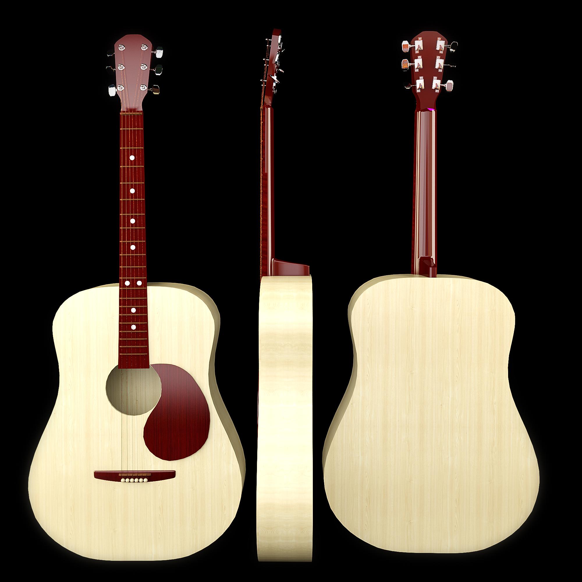 акустик гитар 3d загвар max 215011