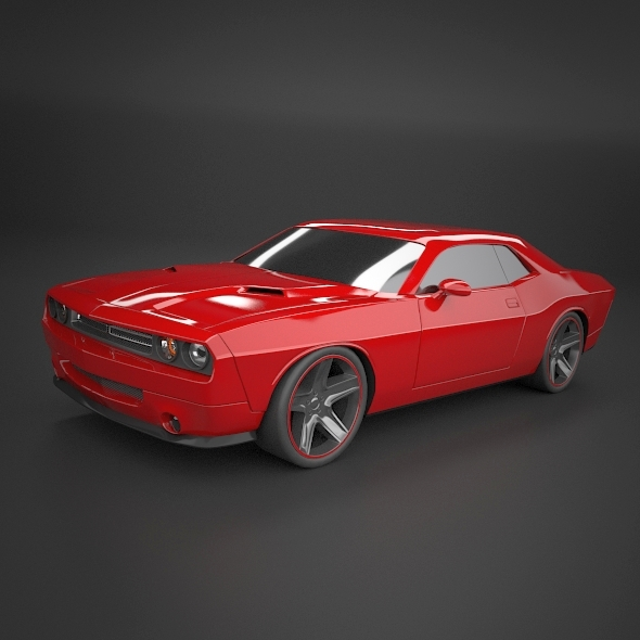 dodge challenger 2008 muscle car restyled 3d model 3ds fbx blend dae lwo obj 215015