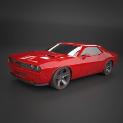 Dodge Challenger 2008 muscle car restyled ( 165.58KB jpg by futurex3d )