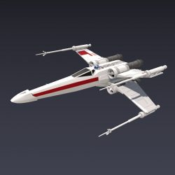 X wing spacecraft fighter ( 83.8KB jpg by futurex3d )