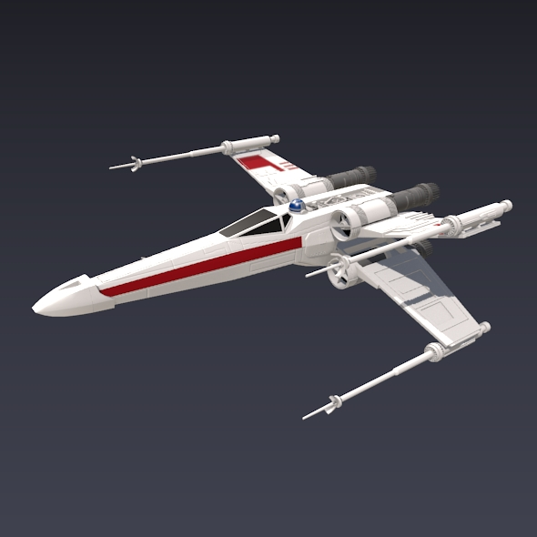 X wing spacecraft fighter 3d model 3ds fbx blend dae obj 215092