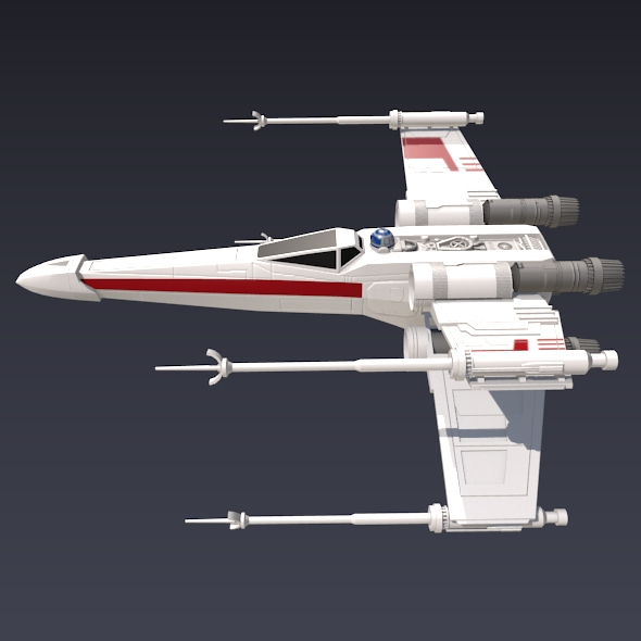 x wing spacecraft fighter 3d model 3ds fbx blend dae obj 215093