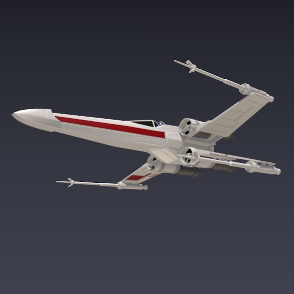 x wing spacecraft fighter 3d model 3ds fbx blend dae obj 215095