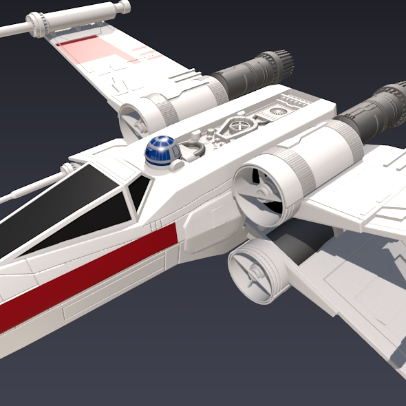 x wing spacecraft fighter 3d model 3ds fbx blend dae obj 215098