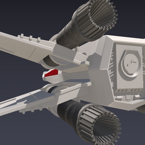 x wing spacecraft fighter 3d model 3ds fbx blend dae obj 215099