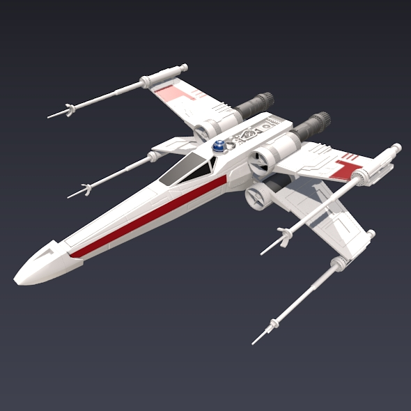 x wing spacecraft fighter 3d model 3ds fbx blend dae obj 215100