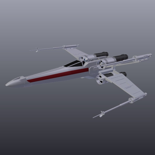 x wing spacecraft fighter 3d model 3ds fbx blend dae obj 215103